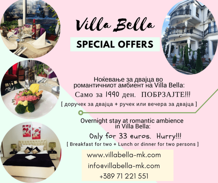 Villa Bella Special Offers March-April-min